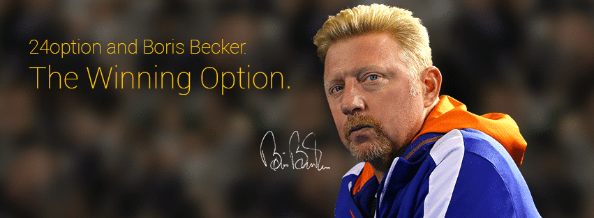 24option Signs Sponsorship Deal with Tennis Legend Boris Becker