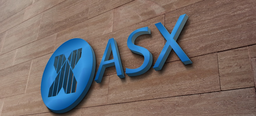 ASX Limited logo on a wooden wall