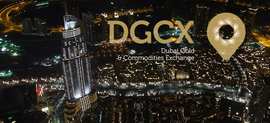 DGCX logo on a backdrop of Dubai