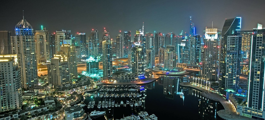 A picture of Dubai's Skyline