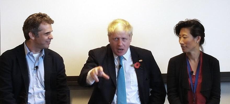 Boris Johnson in Tel Aviv (Ron Finberg)
