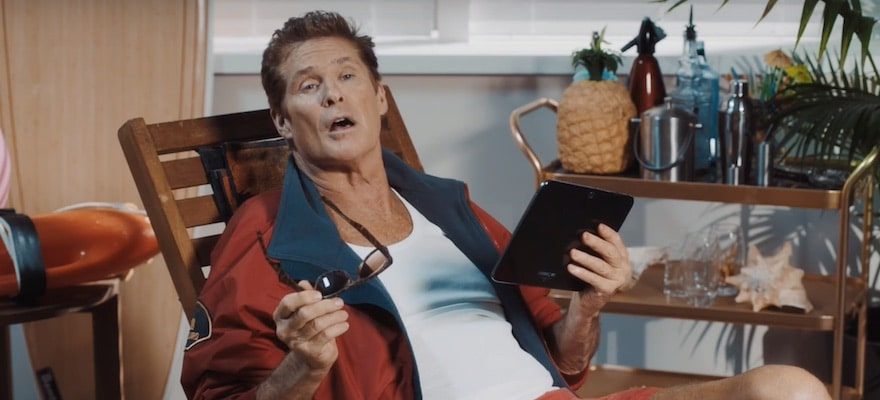 Baywatch Legend David Hasselhoff Becomes the Face of ADS Prime