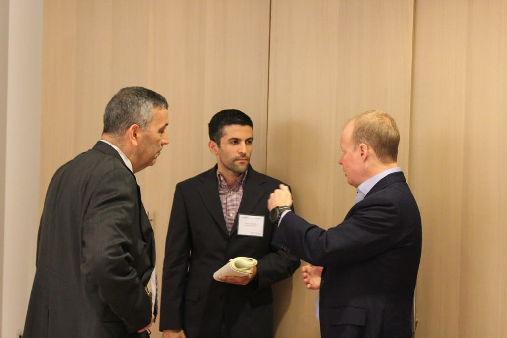From Right to Left: R. Cromwell Coulson, President and CEO of OTC Markets Group Inc. , Steven Hatzakis, Editor, Finance Magantes, and an attendee. Source: OTC Markets