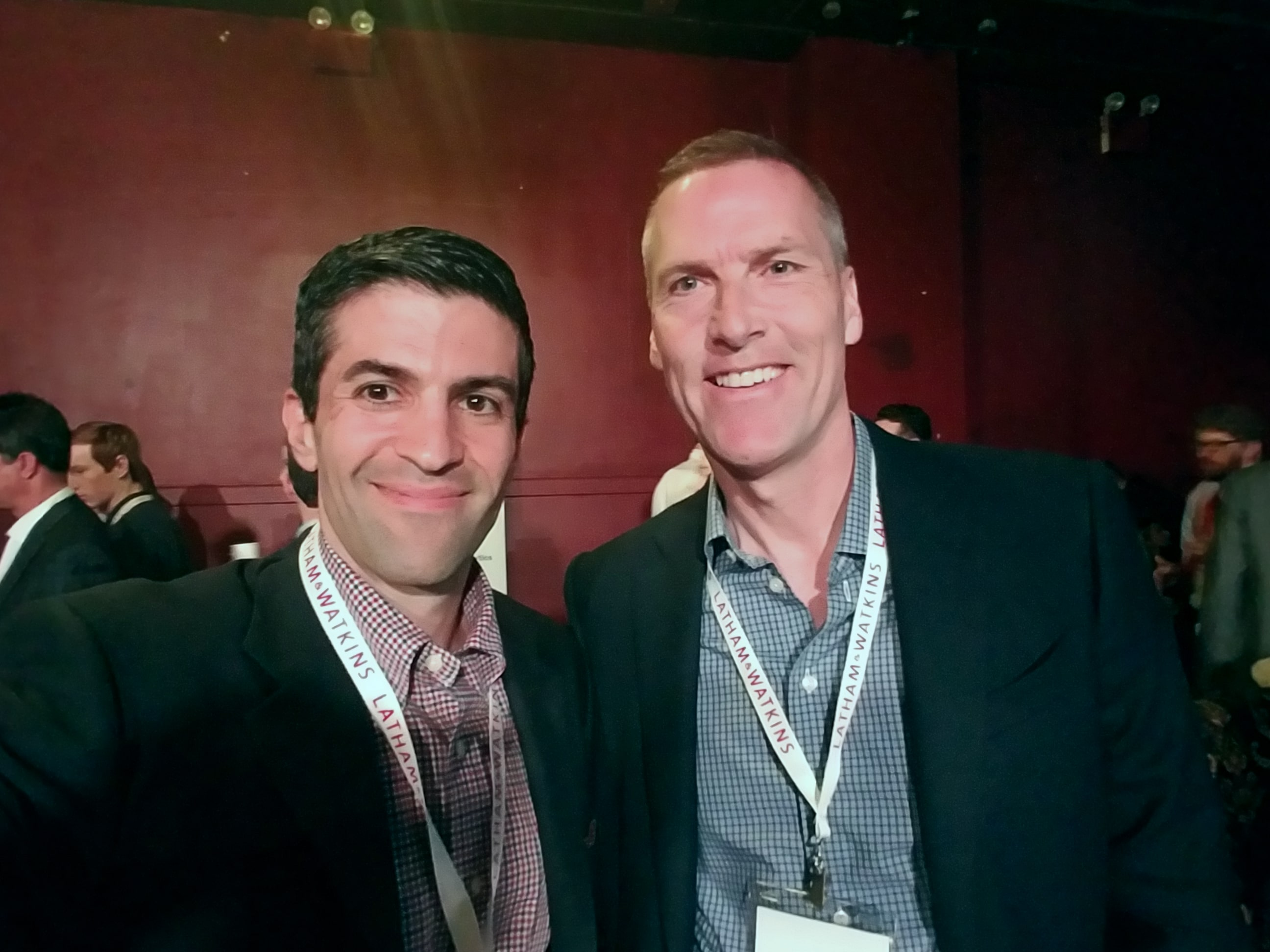 From left to right: Steven Hatzakis, Editor at FinanceMagnates.com and Tim Hockey, incoming CEO of TD Ameritrade. Selfie photo taken at Empire Startups Fintech NY event on April 26, 2016. Source: Steven Hatzakis