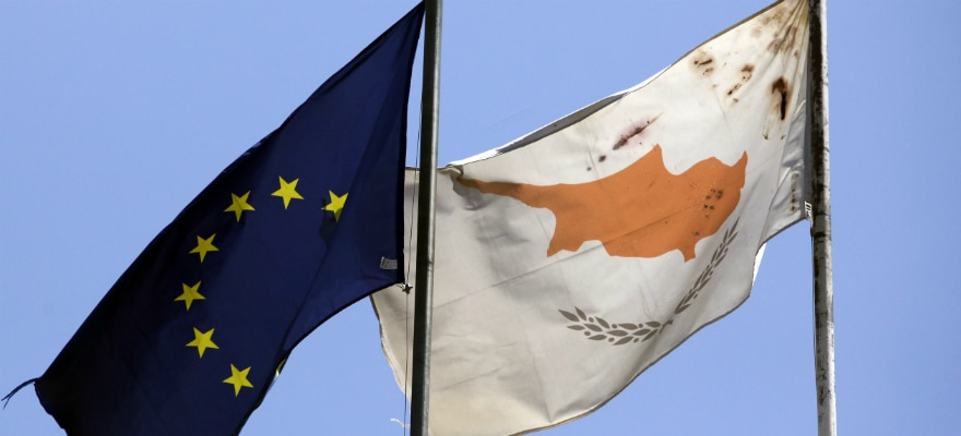 Flag of Cyprus next to EU Flag representing CySEC