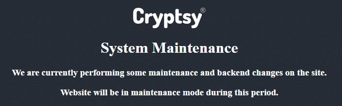 cryptsy offline