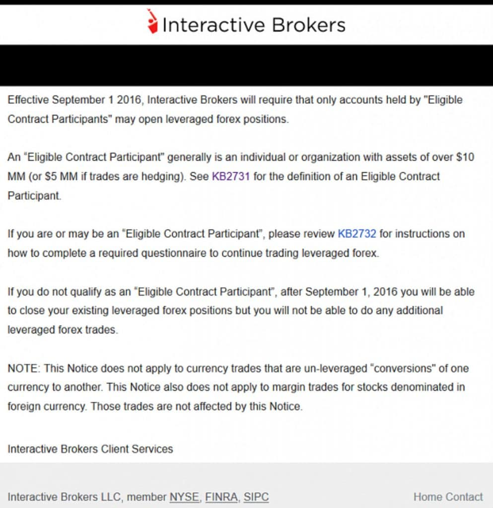 Interactive brokers close forex position
