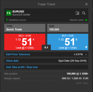 trade ticket, saxo bank