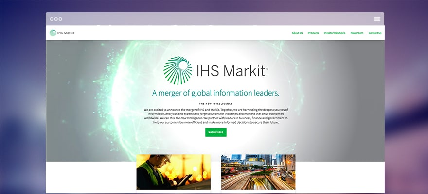Revenues Up, Profit Down for IHS Markit in 2016 Third Quarter
