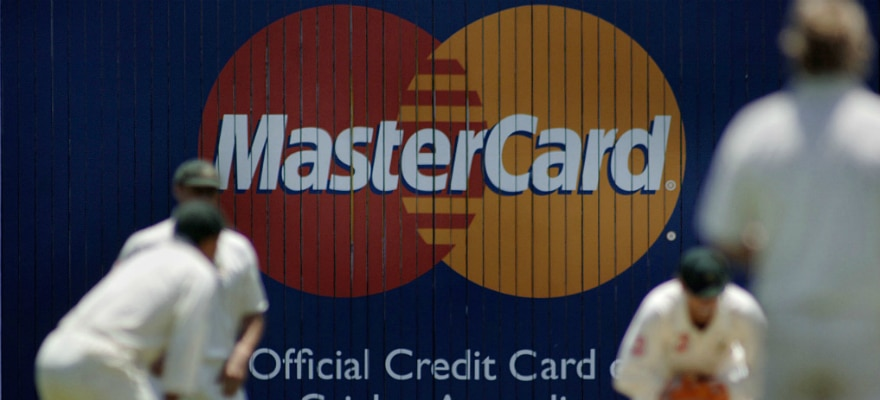 mastercard logo in front of few people playing sports