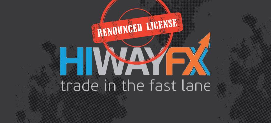 HiWayFX Renounces its CySEC License