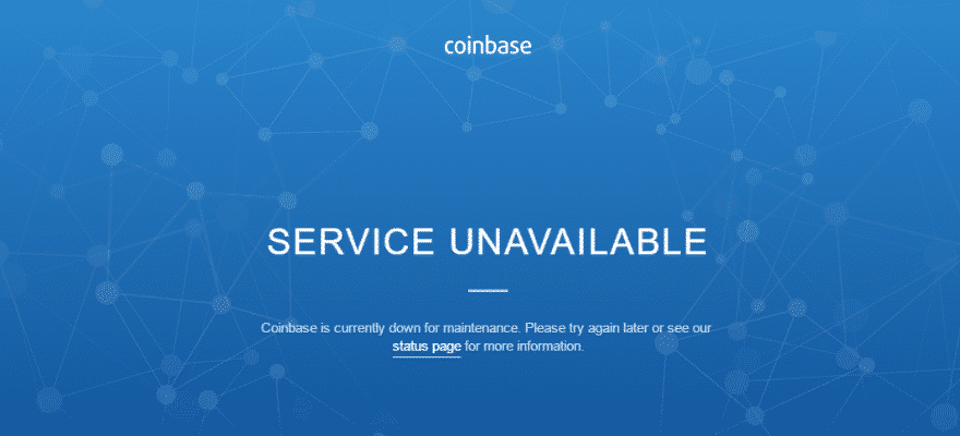 Bitcoin Price Falls Sharply as Coinbase Suffers Another Major Outage