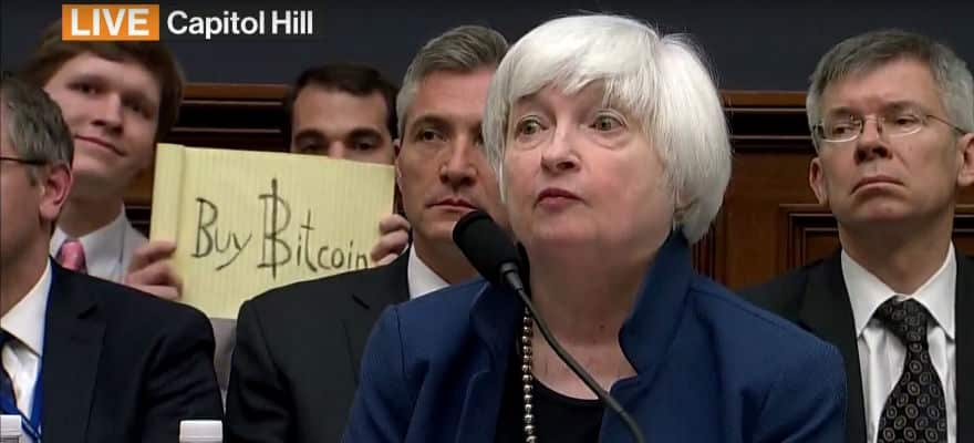 Bitcoin Looms Large Over Fed Head Yellen as She Testifies to Congress