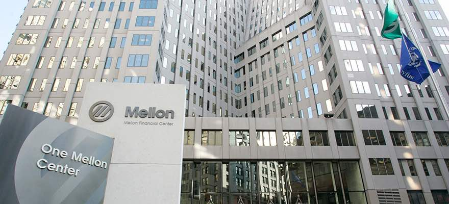 A picture of the headquarters of BNY Mellon