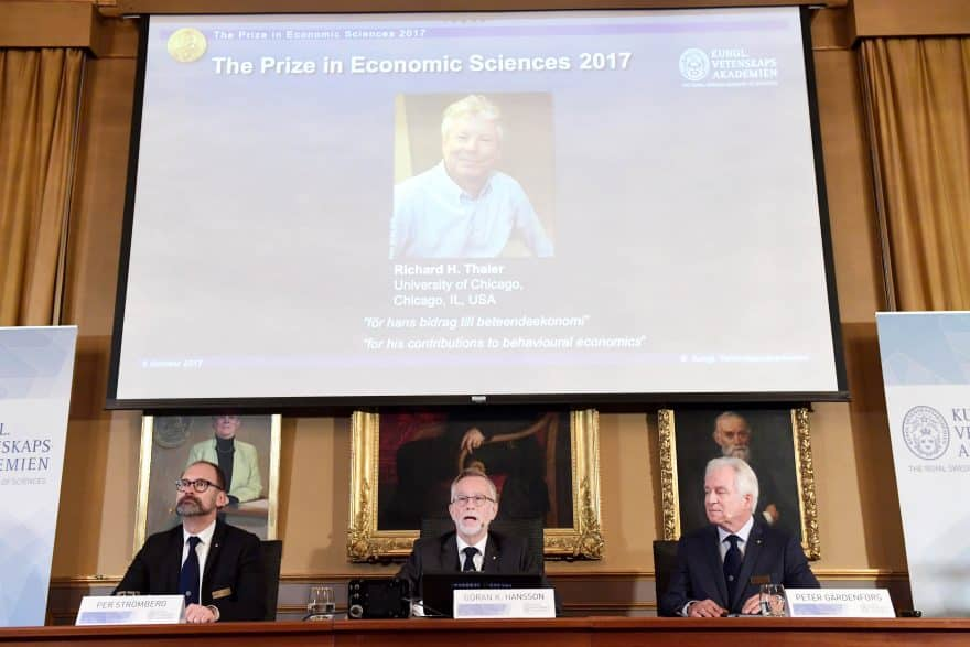Richard H. Thaler Wins 2017 Nobel Prize for Economics