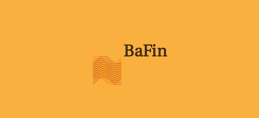 Bafin logo on a yellow background