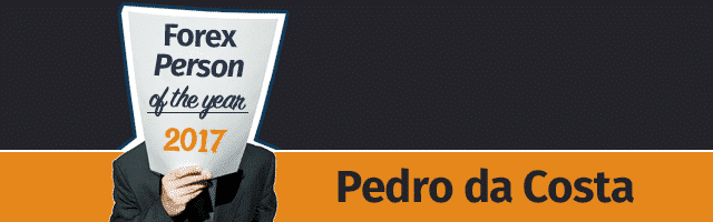 FXStreet Selects Pedro da Costa as 2017 Forex Person of the Year