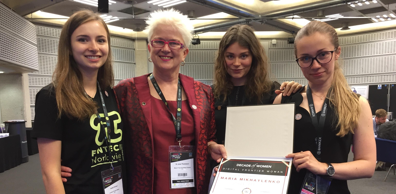 blockchain, BANKEX, London Fintech week, women, award