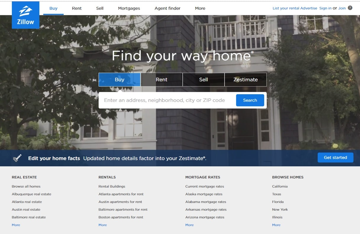 Zillow, big data, real estate