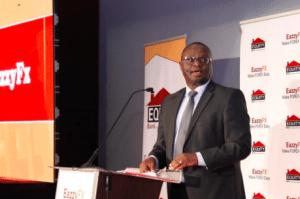 Equity Bank Director of Treasury James Mutuku speaking on EazzyFX