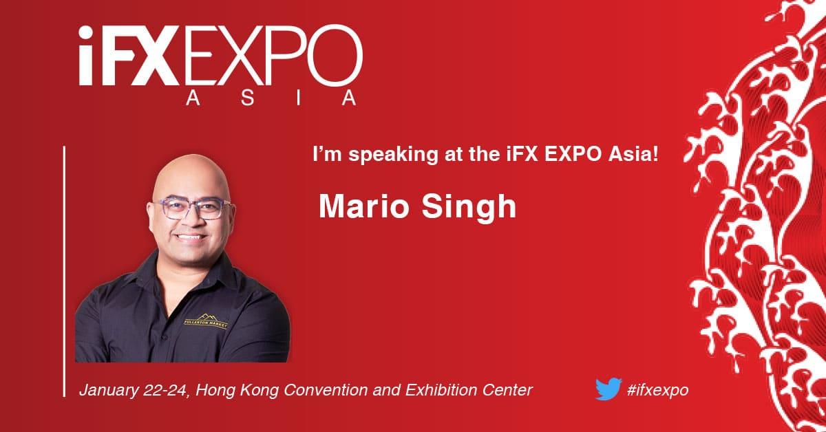 Mario Singh, iFX EXPO ASIA