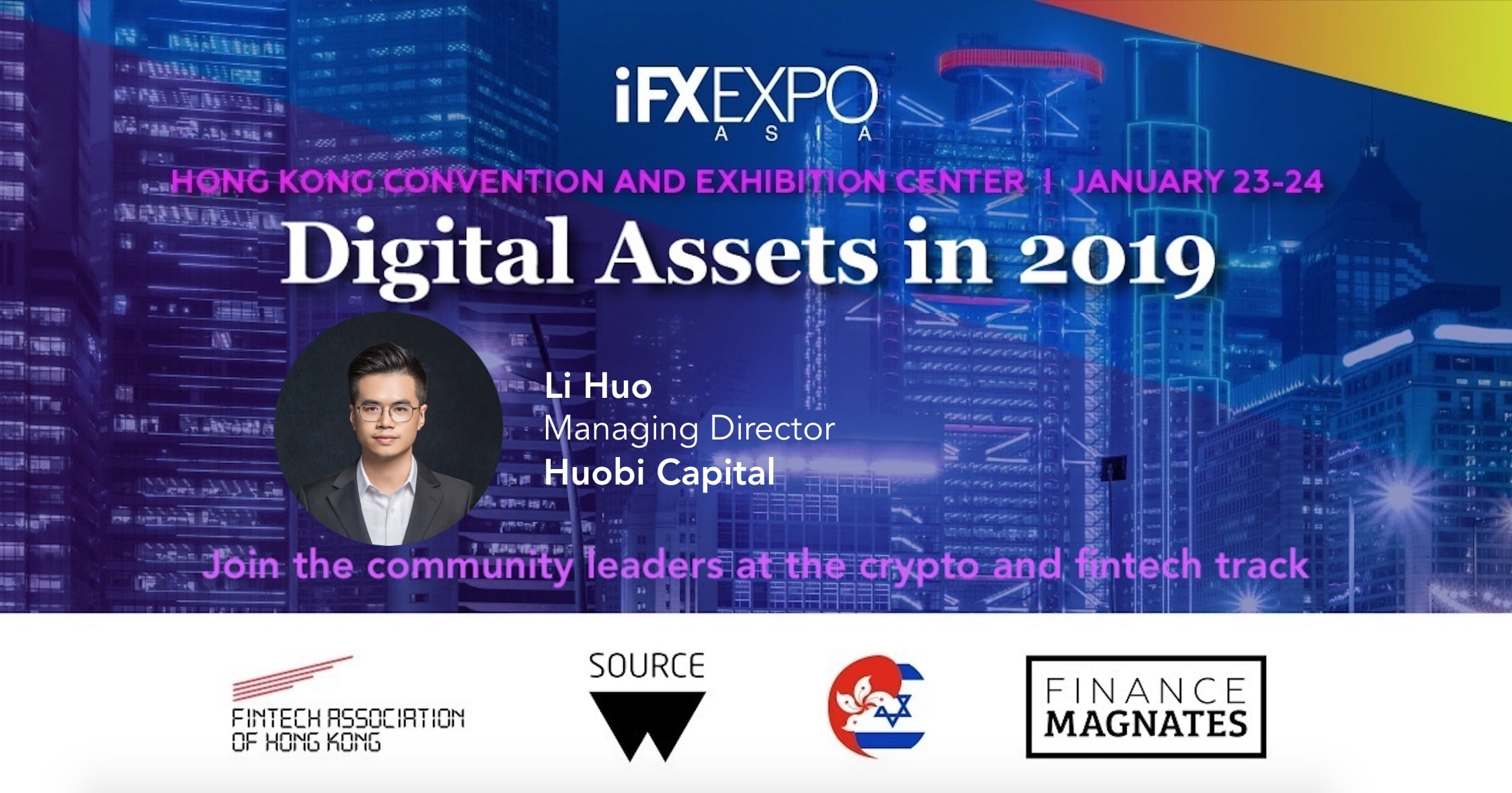 Li Huo, Huobi Capital, iFX EXPO