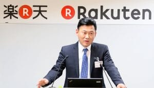 Nikkei Inc the CEO of Rakuten Inc.