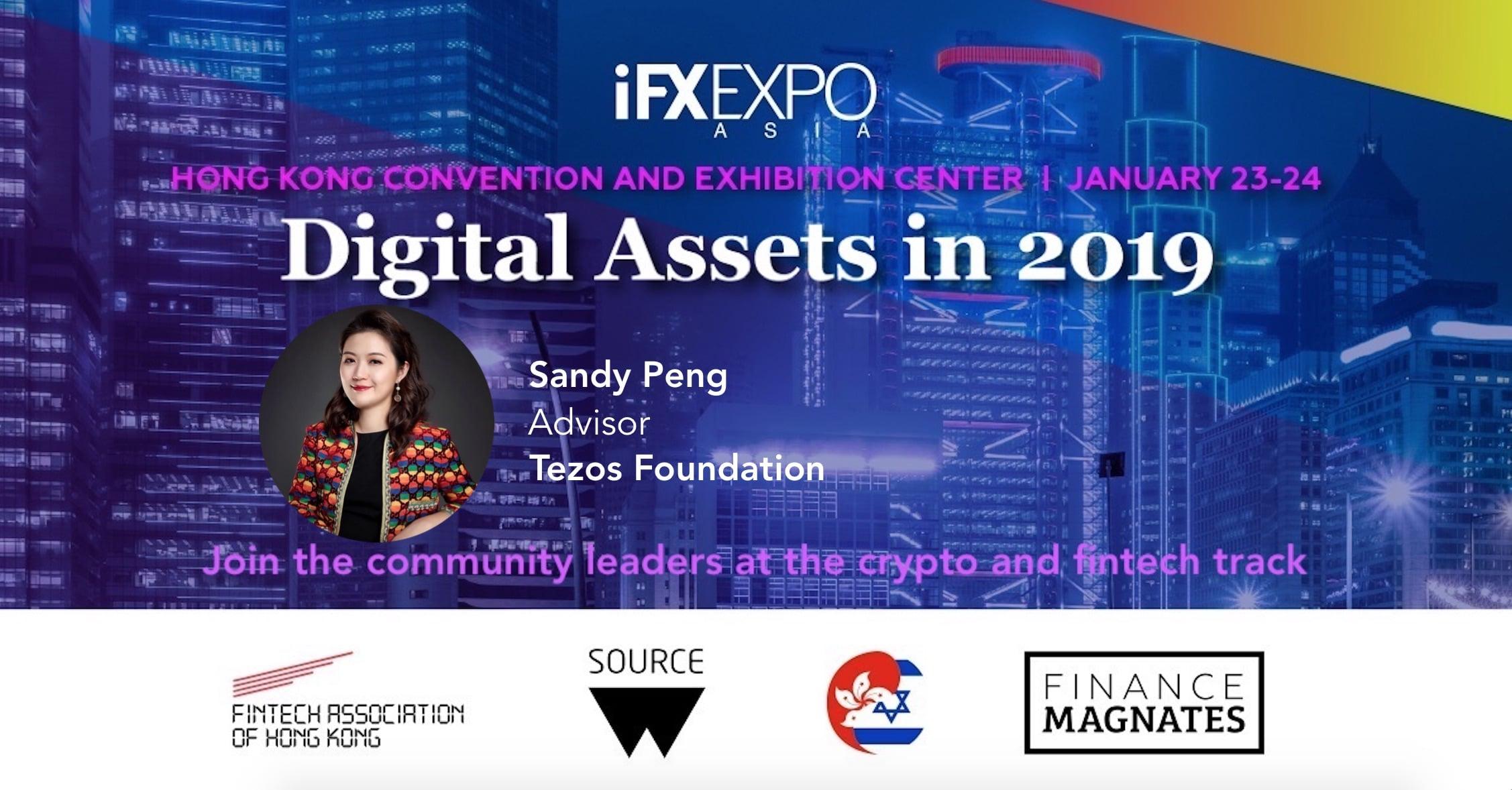 Sandy Peng, iFX EXPO, Tezos