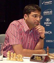 Viswanathan Anand former world chess championship