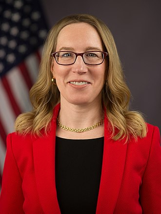 "Portrait of SEC Comissioner Hester Peirce, aka ""Crypto Mom."""