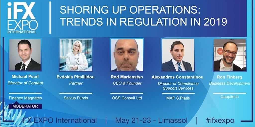 Regulation panel at the iFX expo in Cyprus