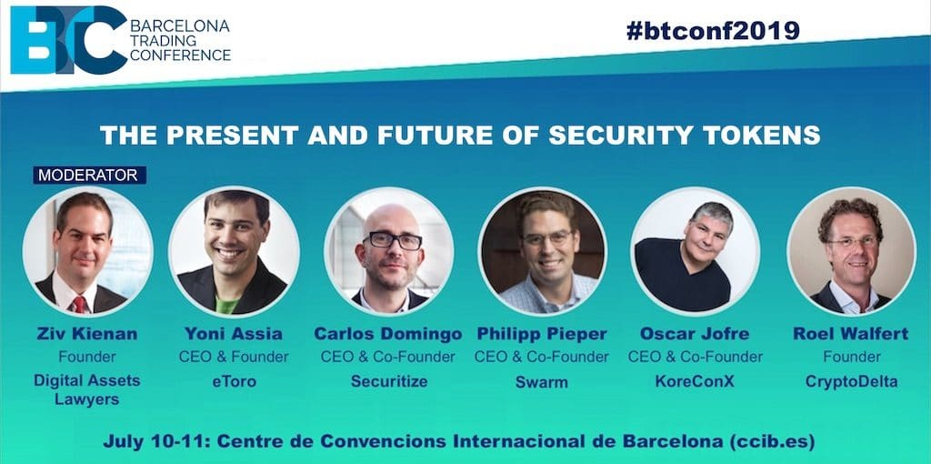 Barcelona Trading Conference 2019 - security tokens panel
