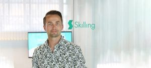 André Lavold, co-founder of Skilling