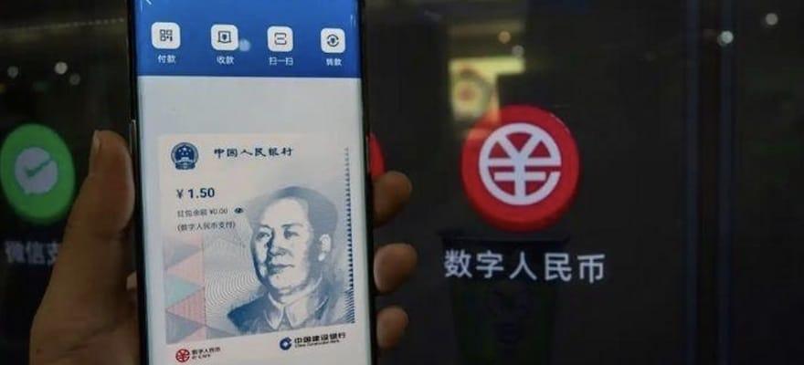 Chinese people using Digital Yuan