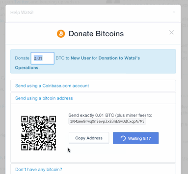 Coinbase payment example