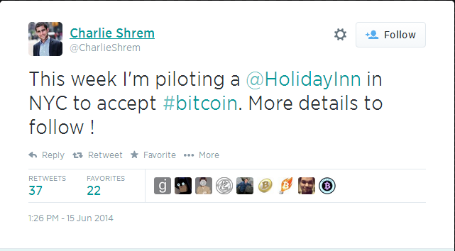 Charlie Shrem Tweet
