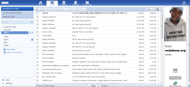 Satoshi e-mail
