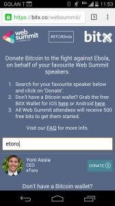 bitx ebola donation yoni assia