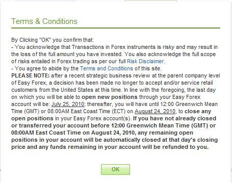 Forex status
