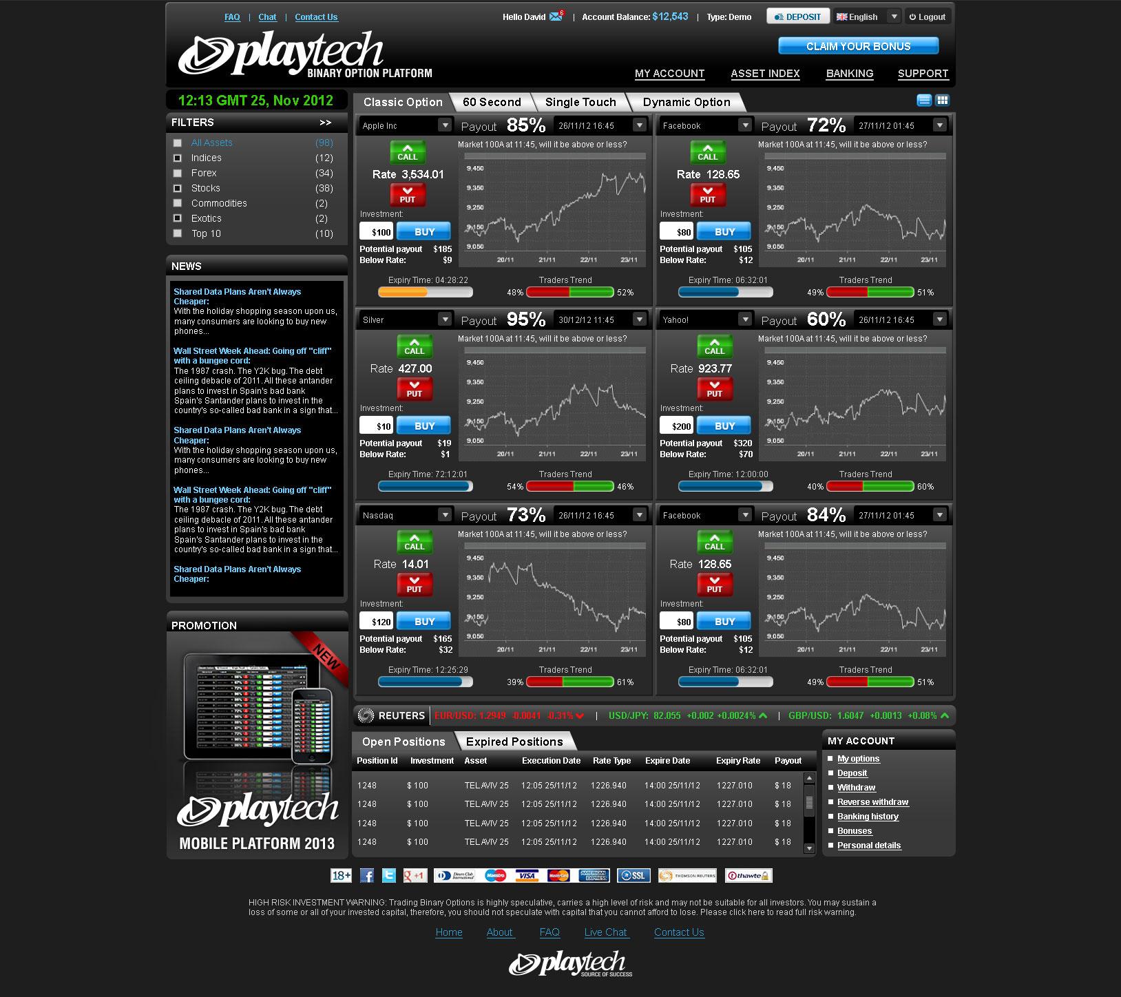 Binary options trading platform us