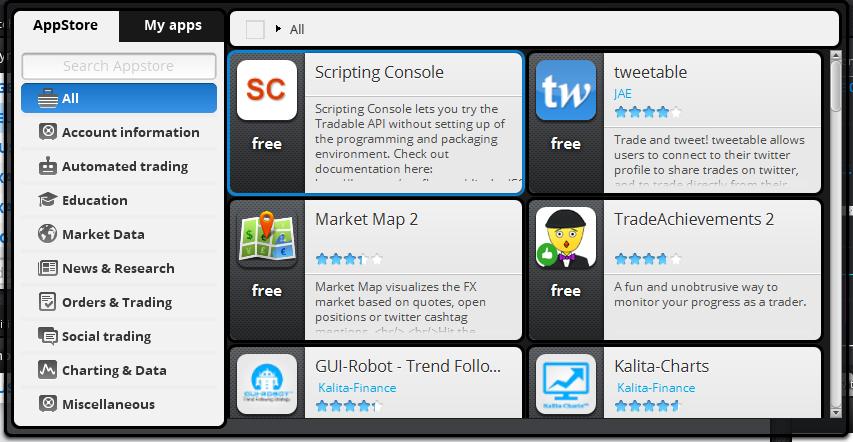 Tradabe App Store