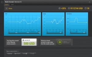 MyInvest screenshot master account screen