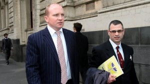 CEO Scott Murray Leaves Victoria Supreme Court, October 2011