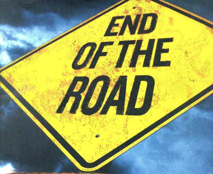 End-of-the-road-sign