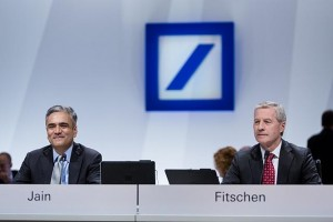 Jürgen Fitschen and Anshu Jain, Co-Chief Executive Officers, Duetsche Bank