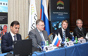 Boris Shilov, CEO of Alpari RU, speaking at a press conference held by Alpari in January 2014 [Source: Alpari]