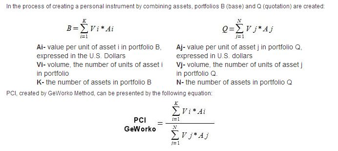 Example PCI Formula using GeWorko method, part of the upgraded version