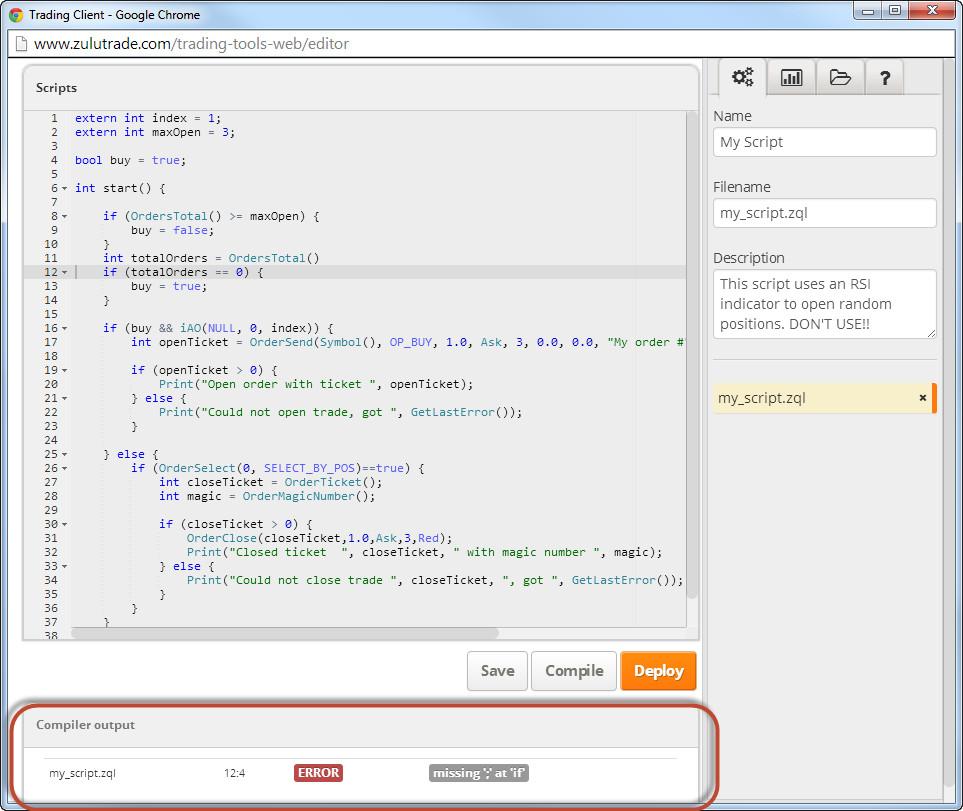 Zuluscript ZQL [Source ZuluTrade.com]