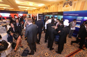 Networking at the Exhibit Hall during the 2013 IFX Expo in Macau