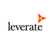 Leverate logo white